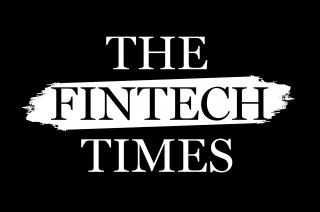 Black background. In the middle: A white background. In white capitals: The and Times. In black capitals: Fintech