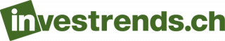 In white lower case: in. In green lower case: vesttrends.ch